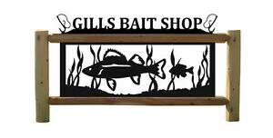 FISH SIGNS - FISHING TACKLE - RODS AND REELS
