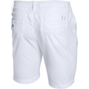 NWT Men's Under Armour UA Match Play Tapered Golf Shorts WHITE  $65  34 38