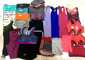 WOMENS UNDER ARMOUR LOT OF 25 Shirts Shorts Pants Hoodie Small