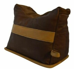 BenchMaster All Leather Bison Shooting Bag - Large-unfilled BMBBLE