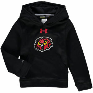 Under Armour Temple Owls Youth Black Armour Fleece Pullover Hoodie - College