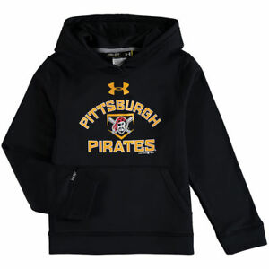 Under Armour Pittsburgh Pirates Youth Black Fleece Pullover Hoodie - MLB