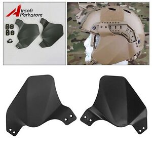 Tactical Side Soft Ear Cover Protector for OPS Fast Helmet Rail System Black