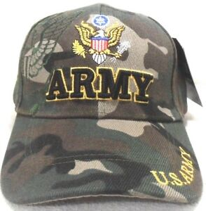 U.S. ARMY MILITARY CAP UNITED STATES ARMY HAT CAMOUFLAGE WITH SHADOW
