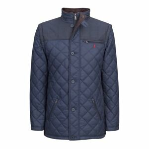 Jack Murphy Matthew Quilted Mens Jacket Synthetic Fill - Ink Blue All Sizes