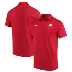 Wisconsin Badgers Under Armour 2017 Coaches Sideline Tour Performance Polo Shirt
