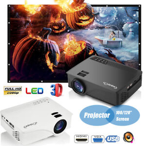 7000Lumen LED 1080P HD Home Movie Projector Portable Home Cinema Theater HDMI US
