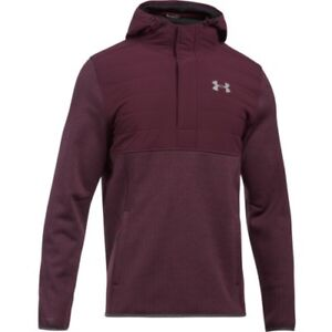 Under Armour Storm Henley Swacket Mens Hoody - Raisin Red All Sizes