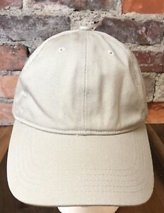 Vintage Cutter & Buck Hat Beige Kahki Tan Cotton Strap Back H7