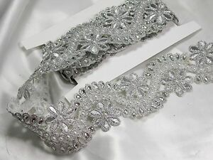 METALLIC SILVER BEADED TRIM 2