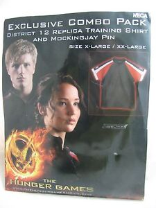 Hunger Games Training Shirt District 12 NECA Katniss Peeta XL XXL Costume New6
