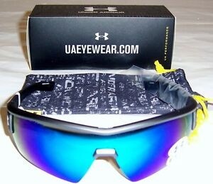 Under Armour Fire Satin Carbon FramewBlack&Gray Rubber wBlue MultiflectionLens