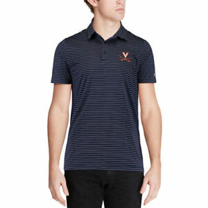 Under Armour Virginia Cavaliers Navy Playoff Stripe Performance Polo - College