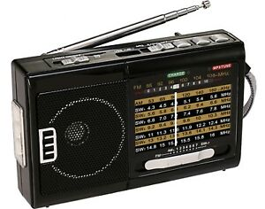 BRAND NEW QFX R-39 AM/FM/SW 10 Band Radio with Flashlight and USB/TF Player