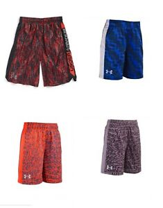 New Under Armour Boys Heat Gear Athletic Shorts Size 3T 4 and 6