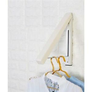 1 x Stainless Steel Foldable Drying Wall Mounted Laundry Rack Folding Hanger S