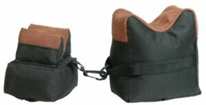 Outdoor Connection Two-Piece Bench Bags Fabric and Leather Black : BRB2F-28213