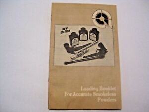 VINTAGE 1985 LOADING BOOKLET FOR ACCURATE POWERS RELOADING GUN GUIDE MANUAL