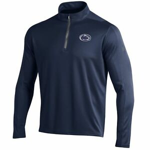 Penn State Nittany Lions Under Armour Navy Golf Loose 14 Zip LS Pullover