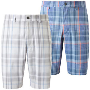 Callaway Golf Mens 2018 Madras Plaid Opti-Dri UV Repel Flex Shorts