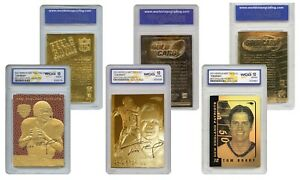 TOM BRADY Patriots Genuine 23KT NFL Gold Cards Graded Gem Mint 10 SET OF 3 $27.95