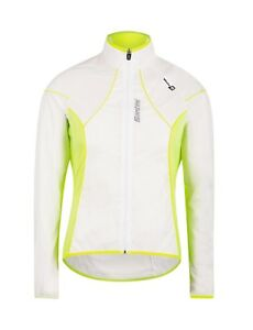 ICE 2.0 Spray CYCLING JACKET - in Clear  Yellow - Made it Italy by Santini