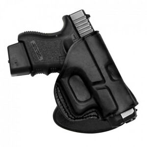 Rotating Quick Draw Leathe Paddle Holster fits Glock 192332 Right Hand
