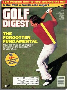 Golf Digest 1985 August The Angle of Your Spine Determines Shot Consistancy $4.99