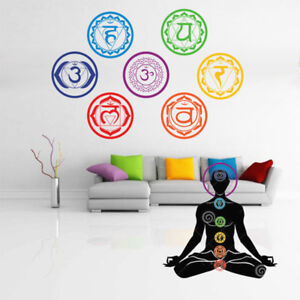 Home Room Sticker Mandala Yoga Meditation Symbol Chakra Room Decor Wall Decal US