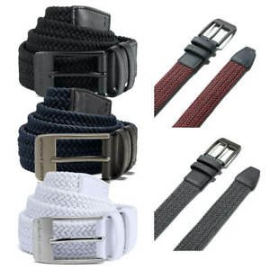 Under Armour Mens 2019 Braided 2.0 Elasticated Stretch Woven Golf Leather Belt