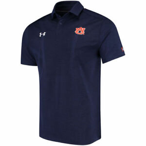 Under Armour Auburn Tigers Navy 2017 Coaches Sideline Performance Polo