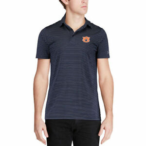 Under Armour Auburn Tigers Navy Playoff Stripe Performance Polo