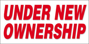 20x48 Inch UNDER NEW OWNERSHIP vinyl banner wb $19.99