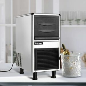 460W Freestand Stainless Steel Commercial Bullet Shape Ice Maker Machine Tool