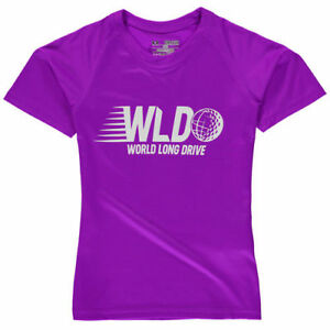 Under Armour World Long Drive Girls Youth Purple Tech Performance T-Shirt