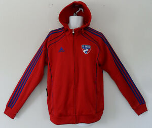 RARE~Adidas FC DALLAS Hoody Jersey Track Sweat shirt PACKABLE Jacket~Mens sz Med