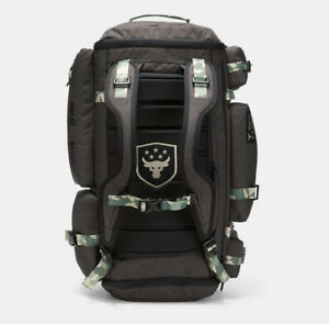 NEW UA x Project Rock USDNA Range Duffle Bag Under Armour Black or Green