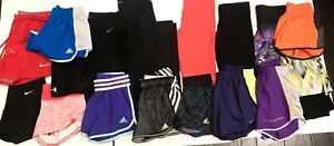 Womens UNDER ARMOUR NIKE ADIDAS WORKOUT LOT OF 35 Tops Shorts XS