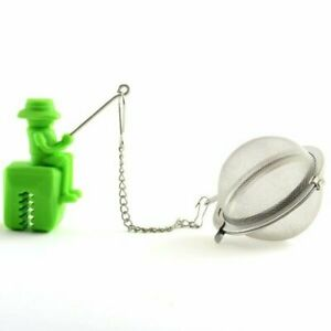 Norpro Fisherman Shape Silicone /  Stainless Steel Mesh Loose Leaf Tea Infuser
