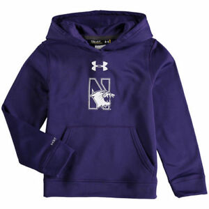 Under Armour Northwestern Wildcats Youth Purple Armour Fleece Pullover Hoodie