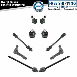 10 Piece Steering Suspension Kit Tie Rods Ball Joints Sway Bar End Links New $78.95