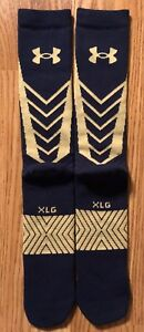 Notre Dame Football 2014 Shamrock Team Issued Under Armour socks New Xl