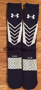 Notre Dame Navy Limited Edition Respect Under Armour Team Issued Socks Xl