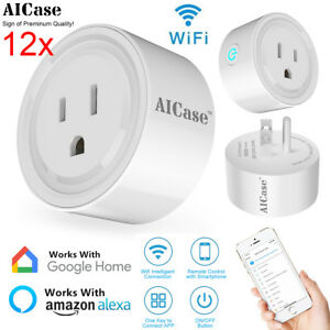 12x Smart WiFi Plug Power Socket Remote Control Switch Outlet Alexa Google Home