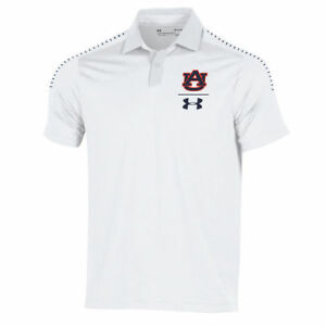 Under Armour Auburn Tigers White 2018 Coaches Sideline Performance Polo