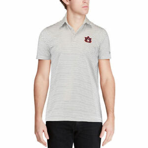 Under Armour Auburn Tigers White Playoff Stripe Performance Polo