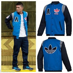 nwt~Adidas Original STADIUM JACKET VARSITY superstar Bomber sweat shirt~Men sz L