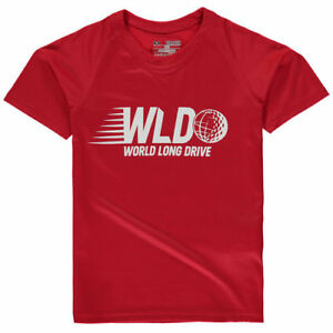Under Armour World Long Drive Youth Red Performance Tech T-Shirt