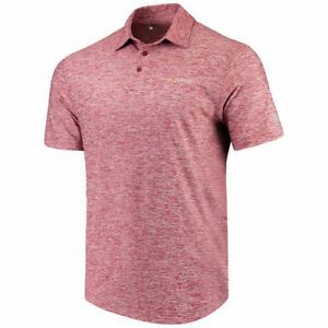 Under Armour THE PLAYERS Heathered Red Performance Elevated Polo