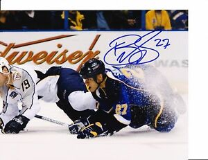 ST. LOUIS BLUES BRYCE SALVADOR SIGNED ON ICE 8X10 $22.99
